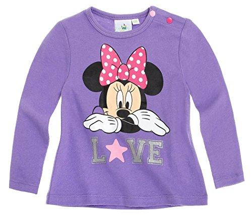 Tee shirt manches longues bébé fille Minnie 'Love' Violet de 3 à 24mois (12mois)