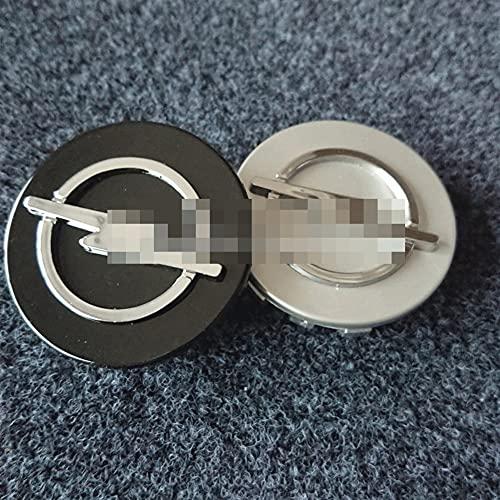 GAOJIA 4 unids 59mm 64mm Wheel Center Hub Cap Batge Funda Emblema Fit Compatible con Opel Astra Mokka Emblem Logo Styling (Color : 64mm Black)