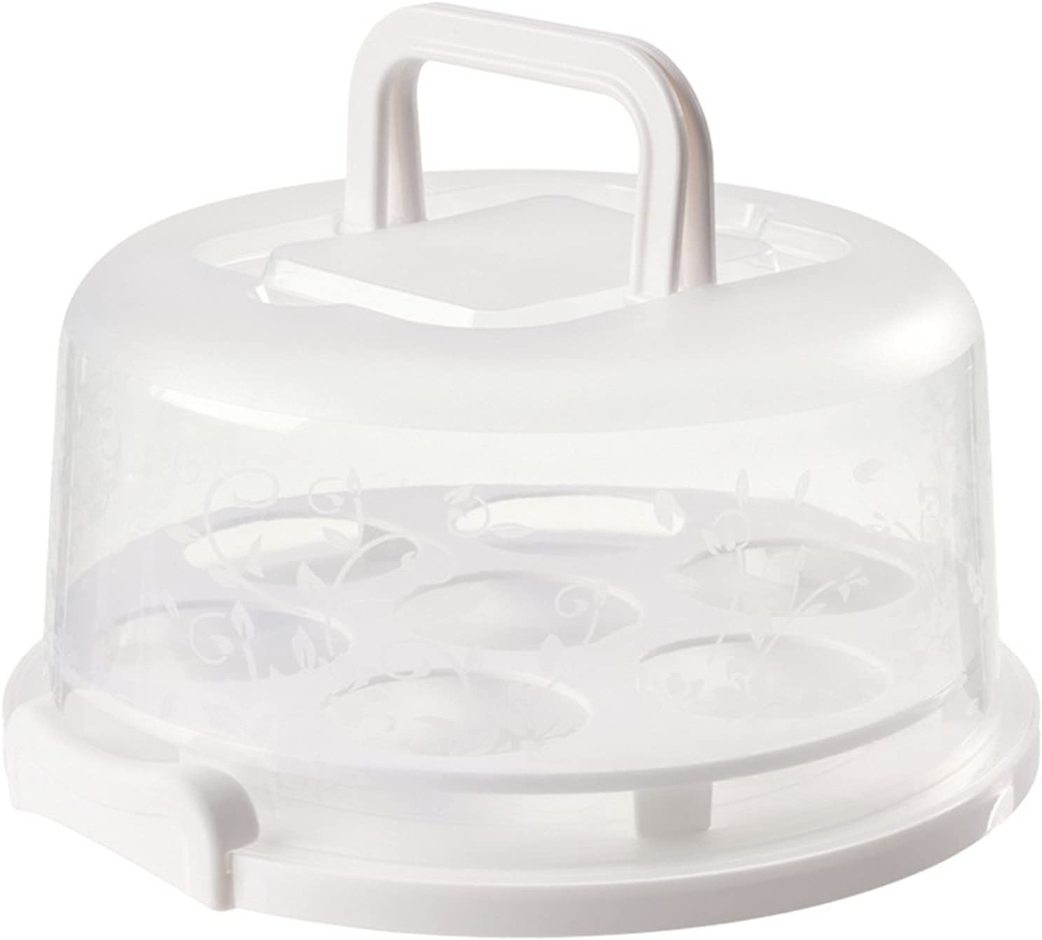 Portable Cream Cake Carriers Storage Birthday Popular products Round Box Bo Limited time trial price
