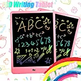 TEKFUN 10 Pulgadas Tablet para niños,Portatiles Buenos,Tableta de Escritura LCD de con Bloqueo de Pantalla borrable y función Reutilizable,Pizarra Luminosa niños,Juegos educativos niños(Rosa)