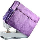 Funda protectora para máquina de coser, compatible con la mayoría de máquinas de coser estándar: Singer, Brother, Janome, viene con kit de costura, color morado