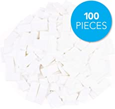 Bulk Dominoes Plastic Bulk 100pcs – Building and Stacking and Chain Reaction Toppling STEAM Toy Blocks for Kids (White)