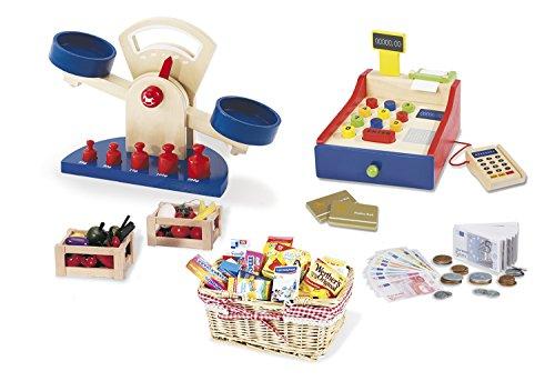 Pinolino Kaufladenzubehör-Set groß, 6-tlg., perfekte Ergänzung zu einem Kaufladen, für Kinder ab 3 Jahren