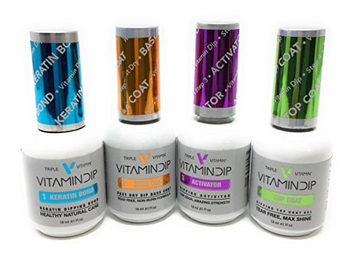 New Triple Vitamin Dip Liquid Set for Your Choice (Set of 4: Step 1,2,3 &4)