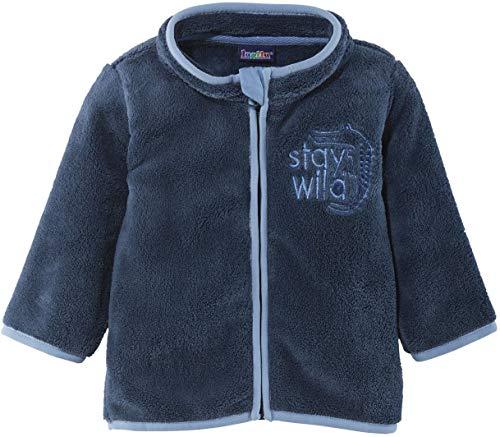 lupilu® Baby Jungen Teddyjacke 'Stay wild', mit Stehkragen (Blau, Gr. 74/80)