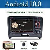 Android 9.0 Doppia Din Car Stereo per Audi TT 2006-2011 HD 7 pollici 2G+32G Autoradio di navigazione GPS Unità di testa Supporto WiFi 4G Bluetooth volante Google DAB OBD Free Backup Camera & Canbus