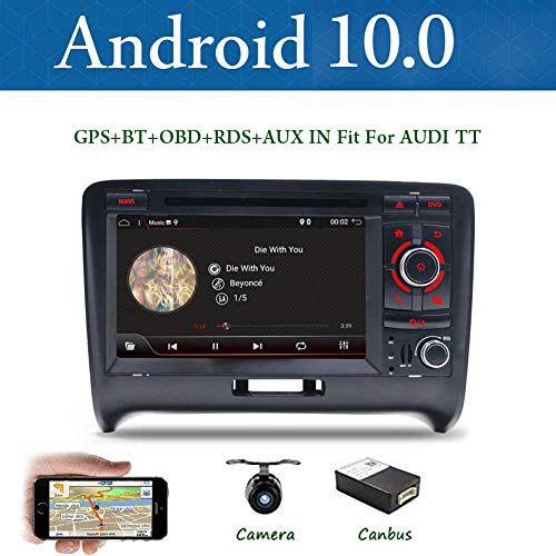 BXLIYER Android 9.0-2 Din Autoradio Compatible para Audi TT 2006-2011 Coche Navegacion GPS |7 pulgadas 2G RAM+32G ROM Octa Core |Soporte WALN 4G Volante Bluetooth Google Dab+ |Gratis Cámara y Canbus