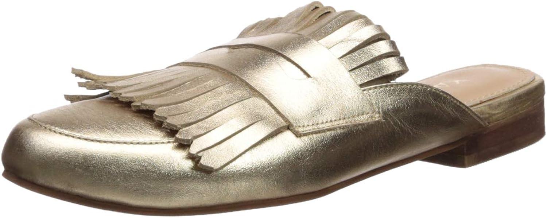 KAANAS Womens Lucca Fringe Loafer Mule Slide shoes Loafer Flat