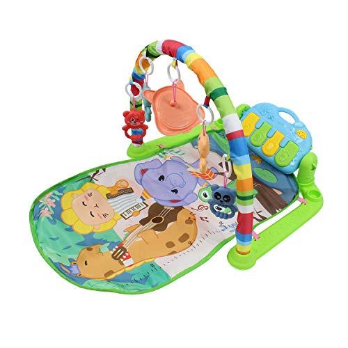 Calma Dragon Manta de Gimnasio para Bebes, Alfomba Musical con Piano, Esterilla con Juegos Infantil, Actividades y Juguetes para el Suelo (Multicolor 2.0)