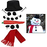 Evelots Perfect Snowman Decorating Kit-15 Pieces-Entire Family Fun-Sturdy Prongs