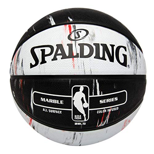 Spalding NBA Marble Series Red/Black/White Outdoor Basketball 28.5'