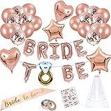Bride to Be,Confetti Globos,Globos de Oro Rosa,Despedida de Soltera...