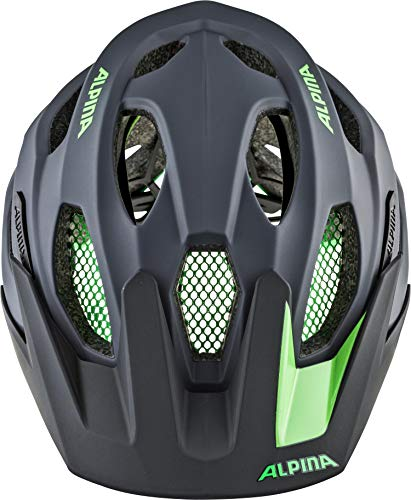 Alpina Unisex– Erwachsene CARAPAX 2.0 Fahrradhelm, Charcoal-Green, 57-62 cm - 2