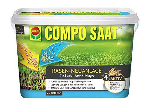 Compo Mezcla de semillas de césped de Saat, mezcla de semillas de...