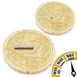Brudazon | 50 Mini Scheiben-Magnete 1x1mm | N52 stärkste Stufe - Neodym-Magnete ultrastark | Power-Magnet für Modellbau, Foto, Whiteboard, Pinnwand, Kühlschrank, Basteln | Magnetscheibe extra stark