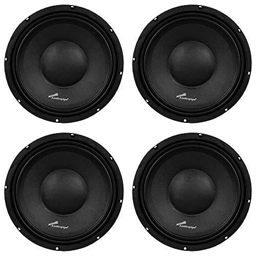 Audiopipe APSP1050 10 Inch 700 Watt Dynamic Mid Range Car Loudspeaker (4 Pack)