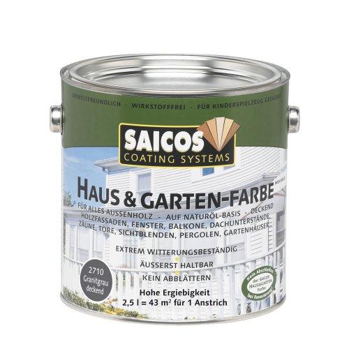 Saicos 2710 500 Haus und Gartenfarbe granitgrau 2.5 l