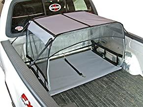 Bushwhacker - K9 Canopy w/ Pad and Tether for Truck Bed Dog Shade Shelter Kennel Hound Hut Tent Leash Pup Restraint Carrier Lead Barrier Vehicle Crate Harness House Cover Chain Tie Out