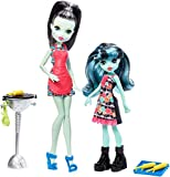 Monster High FKP50 - Muñeca de la Familia Monster Frankie Stein y Alivia