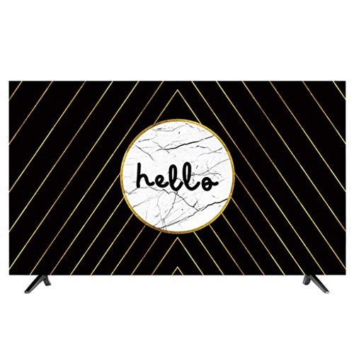 HBLZG Cubierta del televisor Anti estático Poliéster Caja del Panel LCD/LED/HD Pantalla Funda Protectora de Pantalla Compatible con PC, computadora de Escritorio y TV (Color : G, Size : 47-50 Inches)