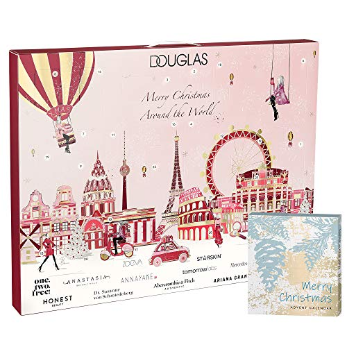 Douglas Beauty Adventskalender 2020 Merry Christmas Around the World im Wert von 300€ mit Mini Adventskalender