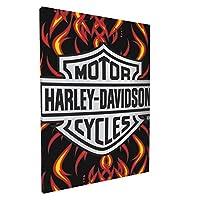 Harley-Davidson ハーレーダビッドソン アートパネル ポスター キャンバス 壁飾り キャンバス絵画 モダン フレーム装飾画 壁画 おしゃれ 新築飾り 贈り物 木枠セット(30cm*40cm)