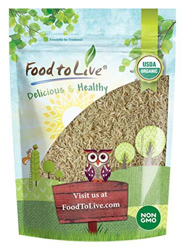 Arroz integral de grano largo Bio, X Libras - Eco, Ecológico, Sin OGM, kosher, crudo, vegano (1.5 Libras)