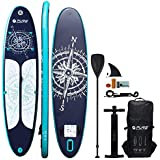 HIKS Products PURE Navy 11'2 3.4m Stand Up Paddle SUP Board Set Inc Paddle, Pump, Backpack & Leash Suitable all Abilities Ideal Beginners Inflatable Paddleboard Kit