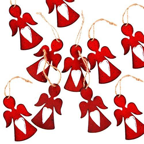 Chic Lot de 10 pendentifs en métal en forme d'ange avec cœur 8 cm
