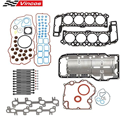 Vincos Full Engine Cylinder Head Gasket Kit with Head Bolts Set Compatible with DODGE DAKOTA DURANGO RAM 1500 4.7L 2000-2003, Replacement For JEEP GRAND CHEROKEE 4.7 L 99-03 VIN N J