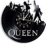 TZMR Reloj de Pared con Disco de Vinilo Queen y Regalo de cu