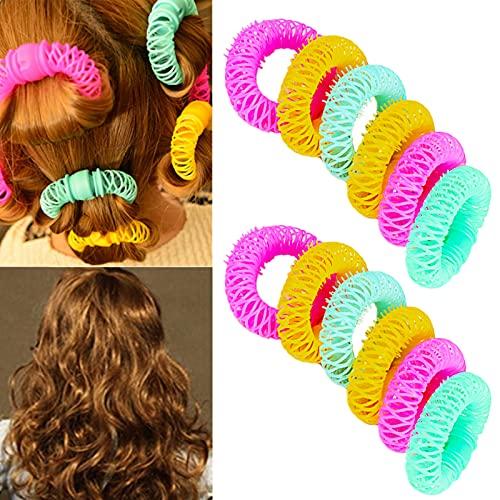 SwirlColor magia ciambella ciambella Sticks Rulli Circle spirale di plastica capelli ricci bigodino Curl rotolo Boccoli Saluto saloni di cura di capelli creatore DIY dei capelli che designa attrezzo - 12 pezzi