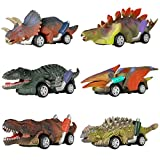 DINOBROS Dinosaur Toy Pull Back Cars, 6 Pack Dino Toys for 3 Year Old Boys and Toddlers, Boy Toys Age 3,4,5 and Up, Pull...