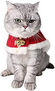 Pet Christmas Costume, Anytec Kitty Puppies Cloak Christmas Costume Cosplay Clothes for Christmas, Easter,Birthday,Party and Daily Wearing