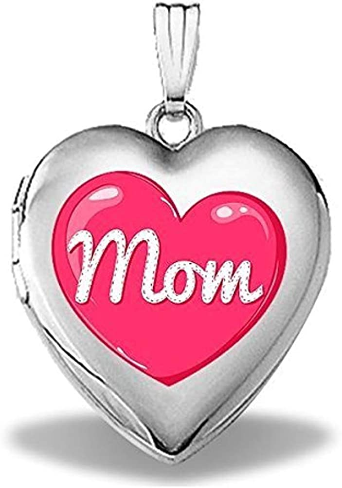 Tampa Mall PicturesOnGold.com Sterling Silver Mothers NEW before selling ☆ Mom L Heart Day