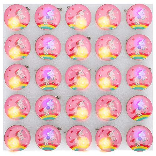 Fdit 25 Piezas de alfileres Brillantes, Bonitos broches de Dibujos Animados, Insignia con Forma de Caballo Rosa para Mochilas, Bolsas de Ropa, Chaquetas, Halloween
