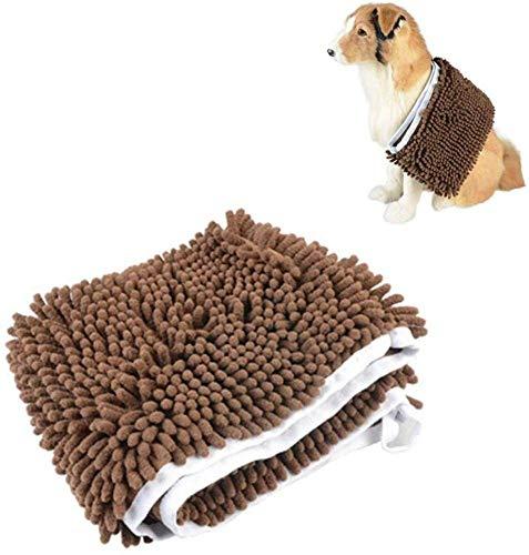 TETHYSUN Cama para mascotas Toalla de perro grande Toalla de microfibra Toalla de mascota Super absorbente de agua Toalla de baño para mascotas Túnica seca Perro Pelo largo
