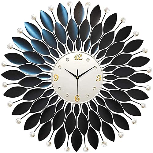 chazuohuaile Co.,ltd Reloj De Pared Modern Wall Clock In Diamond Crystal28 Inch Wall Clock Decoration Metal Waterproof Living Room Room Desk Decor