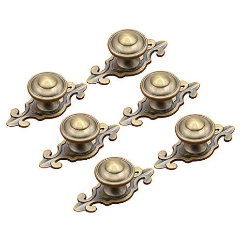 Pomelli per cassetti, Wolfbush 6pcs stile vintage in lega di zinco porta dell' armadio pomelli maniglia cassetti armadio, colore: bronzo