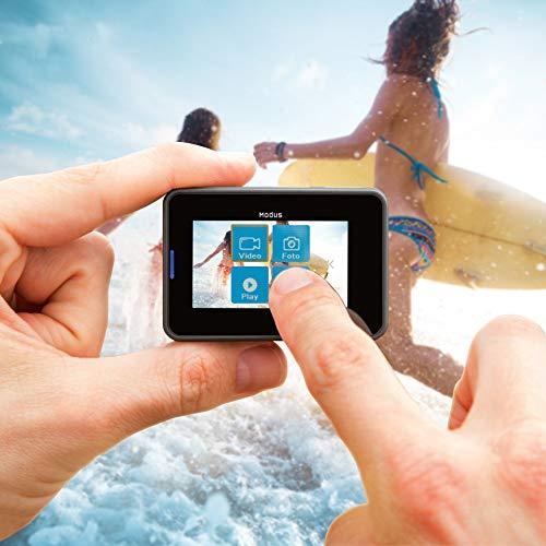 Rollei Actioncam 560 Touch – WiFi Action-Cam wasserdicht 4k 60 FPS – Sports-Cam mit Touchscreen, Unterwasser-Filter, Fotointervallaufnahmen mit 160° Super-Weitwinkel-Objektiv mit viel Zubehör - 3