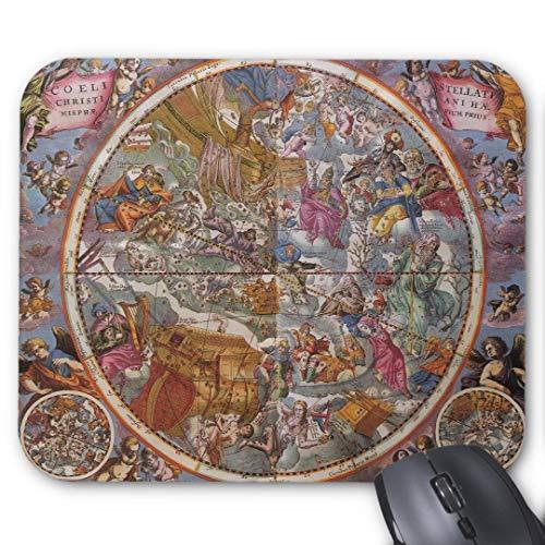 Gaming-Mauspad, rutschfest, wasserabweisend, Gummiunterlage, Computer-Mauspad, Karte der christlichen Sternbilder, südlicher Himmel, Mauspad