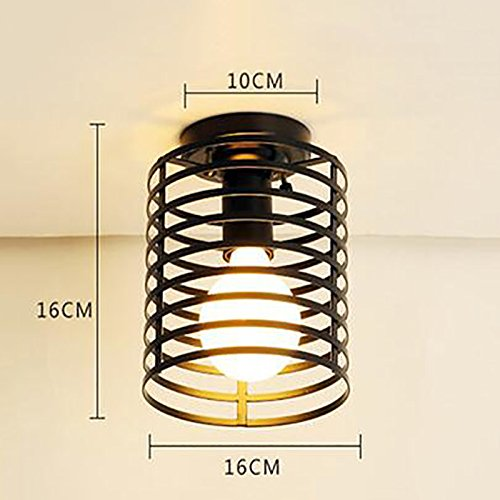 TOYM US Single iron ceiling lamp, E27 bulb screw, creative personality hallway corridor porch balcony restaurant bedroom staircase lighting ( Color : F )