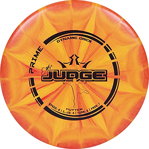 Dynamic Discs Prime Burst EMAC Judge Disc Golf Putter   Great Putt and Approach Frisbee Golf Disc for Beginners   Designed by Disc Golf World Champion Eric McCabe   170g Plus (Orange)