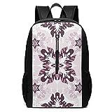 White Mandala Travel Backpack Shoulder Back Pack Bag for Womens Mens Adults 17'