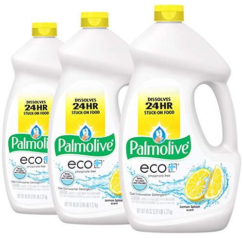 Palmolive Eco Dishwasher Detergent Gel, Lemon Splash - 45 ounce (3 Pack)