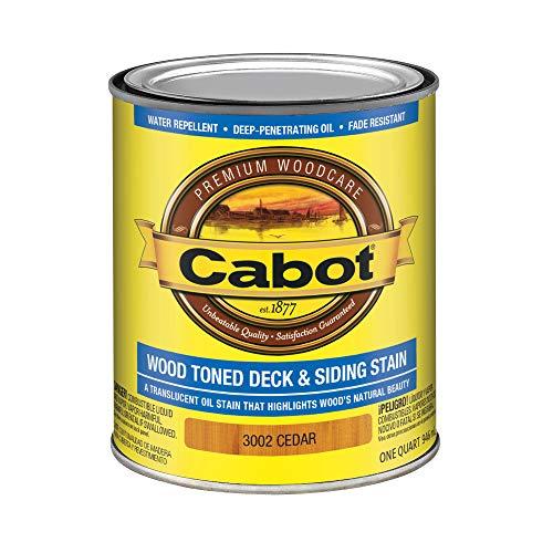 Cabot 140.0003002.005 Wood Toned Deck & Siding Stain, Quart, Cedar