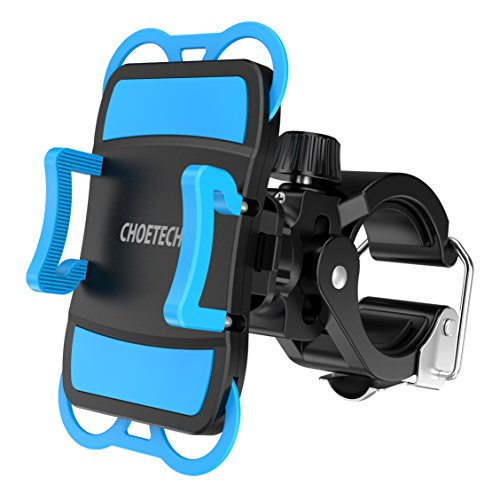 Bike Phone Mount, CHOETECH Bicycle Handlebar & Motorcycle Holder Cradle for iPhone 6s / 6s Plus, iPhone 7 / 7 Plus, Galaxy S7, S6, S5 and more Cell Phones (360 Degree Rotation)