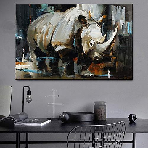 yaofale Puzzle 1000 Piezas Rinoceronte Animal para aliviar estrés Juego Intelectual Cerebro Desafío La Mejor Decoración para El Hogar De Bricolaje 50x70cm(Sin Marco)