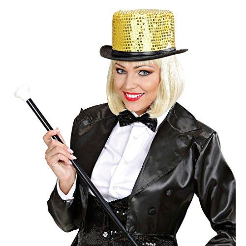 Amakando Haut-de-Forme Paillettes soirée à thème Chapeau Scintillant Show Dance doré Couvre-Chef Disco Danseuse Club déguisement