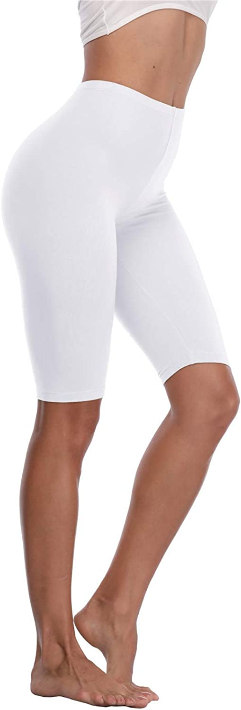 Kotii Women's Buttery Soft Short Leggings Modal Cotton Shorts Under Dresses Leggings Pants